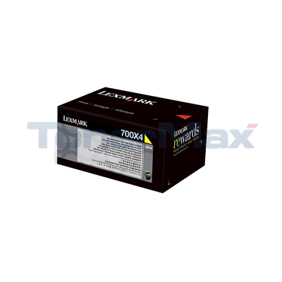 LEXMARK CS510 TONER CARTRIDGE YELLOW 4K